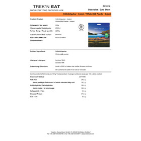 Trek'n Eat Vollmilchpulver